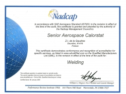 Certifications Nadcap Welding